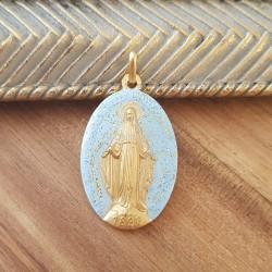 Médaille miraculeuse bleu...