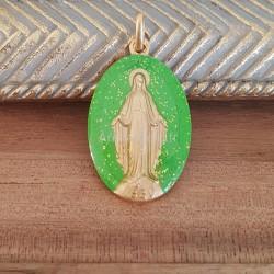 Médaille miraculeuse vert...